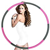 Raoccuy Exercise Hoop - Weighted Exercise Hoop For Exercise,8 Section Detachable Design-Professional Soft Fitness Exercise Hoop