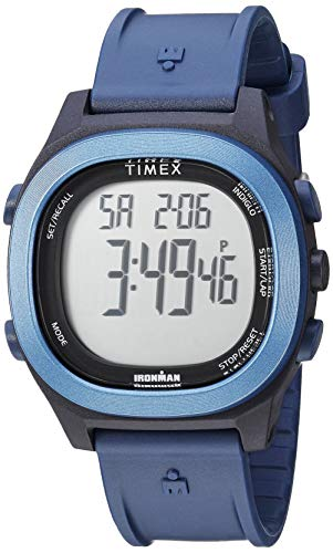 Timex Men's TW5M19200 Ironman Transit Full-Size Blue Resin Strap Watch