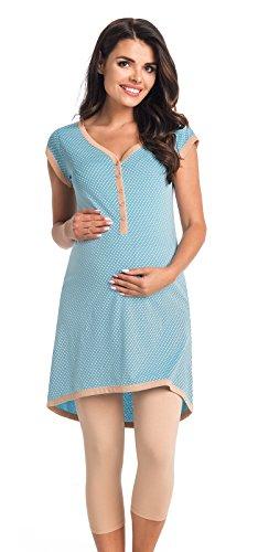 Di Vadini Elena - Pijama de lactancia, de algodón 100%, de