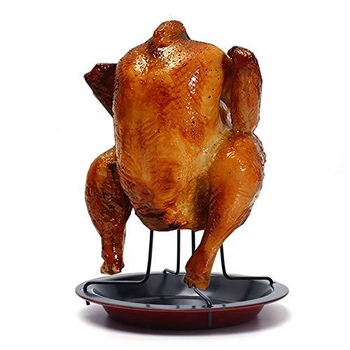 KINJOHI Titulaire De Poulet Pliant poulet Rôtissoire Grille Verticale poulet Supporter Goutte La poêle Barbecue un barbecue Gril Accessoires