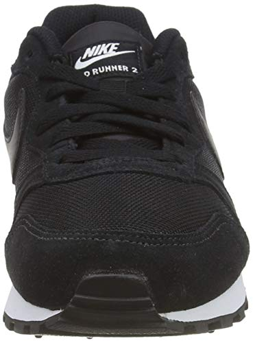 Nike MD Runner 2, Zapatillas de Running Mujer, Negro (Black / Black-White), 38 EU