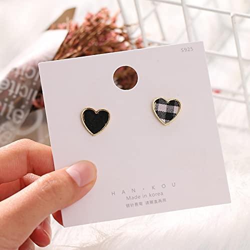 FEARRIN Pendientes Vintage Retro Gold Trendy Vintage Mujeres Forma de corazón Pendientes Lindos Love Heart Statement Pendientes pequeños para Mujer H219-794-01