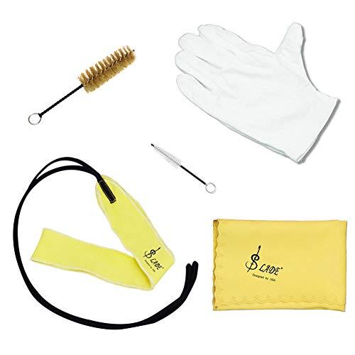 NA Musikinstrument-Zubehör, 5 Stück/Packung Trompeten-Reinigungswerkzeuge, Pflege, Tuch, Kolbenbürste, Mundstück, Bürste, Wischer, Handschuh-Set
