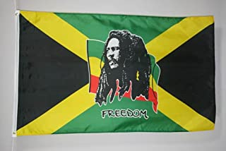 AZ FLAG Bandera Bob Marley 150x90cm - Bandera JAMAIQUINA – Jamaica 90 x 150 cm