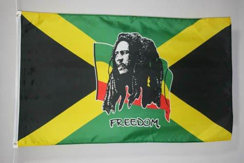AZ FLAG Flagge BOB Marley 150x90cm - BOB Marley Fahne 90 x 150 cm - flaggen Top Qualität
