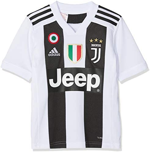 adidas Juve H JSY Y Camiseta Gara Home 2018/2019 Cristiano Ronaldo, Niño, Niños, CF3496-CR7