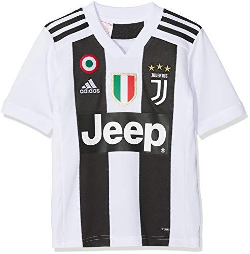 adidas Juve H JSY Y Gara Home 2018/2019 Cristiano Ronaldo Trikot für Kinder, Jungen, CF3496-CR7, Bianco (Bianco/Nero), 13-14 anni