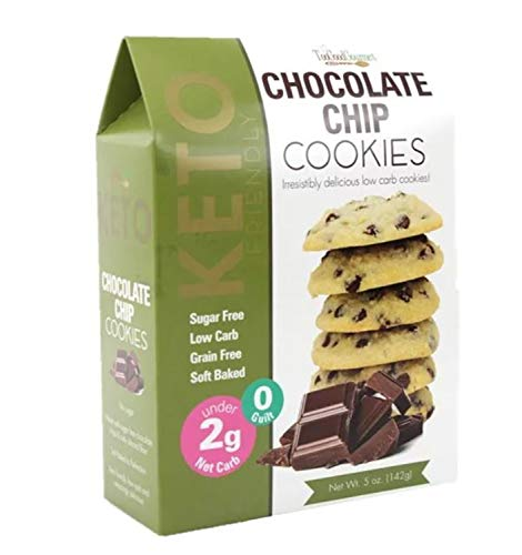 Too Good Gourmet Keto Cookies 5 Oz! Chocolate Chip Flavored Cookies! Low Carb, Sugar Free And Grain Free! Delicious Keto Friendly Cookies Perfect To Any Diet! Choose Your Flavor! (Chocolate Chip)