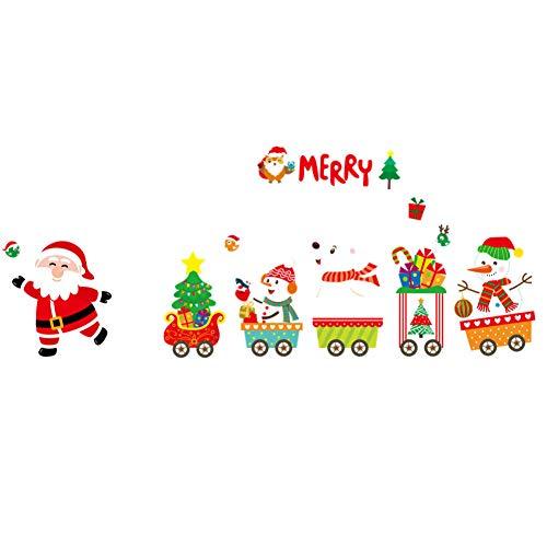 Weihnachtswandaufkleber Hauptdekoration Schaufensterdekoration Hängende Glocke Glocke Schneeflocke Rentier Pappbecher