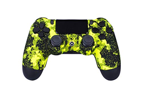AimControllers PS4 Custom Wireless Controller, PlayStation 4 Personalisierter Controller Camo Green mit 4 Paddeln, Gaming Joystick, Dualshock 4, Gamepad [GAMING]
