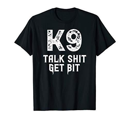K9 Police Dog Handler Malinois German Sheperd Sheriff K-9 T-Shirt