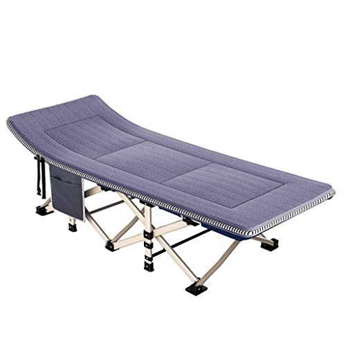 Tuinmeubels/beddengoed, opvouwbaar, voor kantoor, pauze, lunch, bed voor volwassenen, draagbaar, voor ziekenhuis, voor ligstoel, design klein (blauw) Grijs
