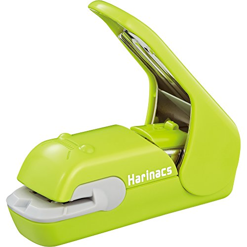 Kokuyo Harinacs Press Staple-free Stapler; With this Item, You Can Staple Pieces of Paper Without Making Any Holes on Paper. [Pink]ï¼»Japan Importï¼½ (Green) by Kokuyo