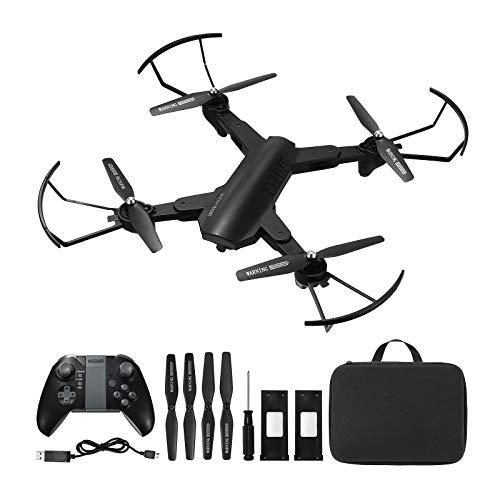 Powerextra Drone con Cámara 2 x Baterías para Principiantes - XS819 Drone con WiFi FPV HD 720P Control de Aplicación móvil Un botón de Despegue y Aterrizaje G-Sensor 3D Flip - Avión de Juguete