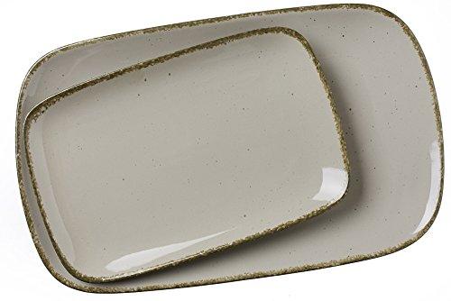 Ritzenhoff & Breker Servierplatten-Set Casa, 2-teilg, 24x15,5 cm und 33x20 cm, Nougat