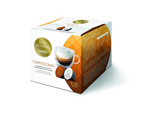 Best Moment Capsules by Caffitaly, Dolce Gusto Compatible Coffee Pods, (48 Servings, Pack of 3, Total 48 Capsules). Made in Italy. (Cappuccino 48 caps)