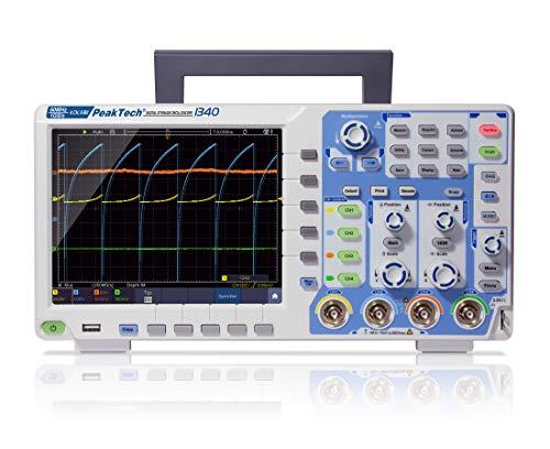 """PeakTech 1340 – 4-Kanal Speicher-Oszilloskop 60 MHz - Max. 1 GS/s mit USB, LAN Schnittstelle & 8\"""" Hochauflösendes TFT Farbdisplay, Speichertiefe 40 Mio. Punkte, FFT- & XY- Modus, DSO"""
