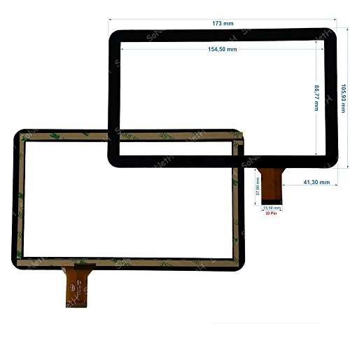 Soneth Vetro Touch Screen Digitizer 7,0  Lisciani Mio Tab MP0100770 Tablet Nero