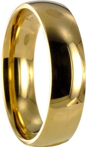 1 Edelstahl L316 gold Ring Partnerring Trauring Ehering X10061 Gr52