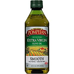 Pompeian Smooth Extra Virgin Olive Oil, First Cold Pressed, Mild and Delicate Flavor, Perfect for Sa