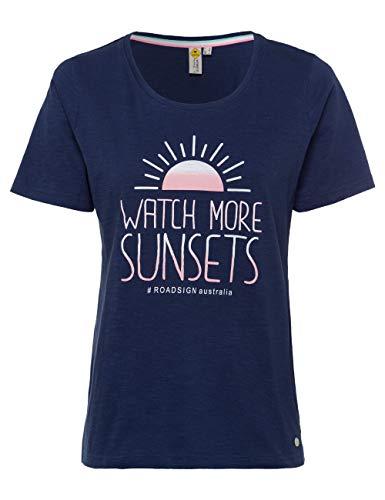 ROADSIGN Australia T-Shirt mit Print, Rundhals, Navy|XXL