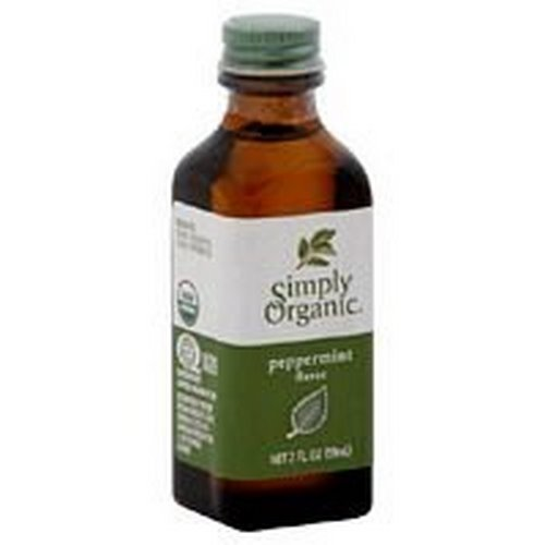 Simply Organic Peppermint Flavor, Certified Organic, 2.0 Ounce Bottle