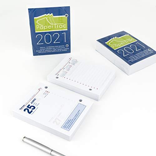 Bloc Taco Calendario De Sobremesa - Año 2021 - 650 Páginas - PaperTrac - Fin De Semana   1 Página