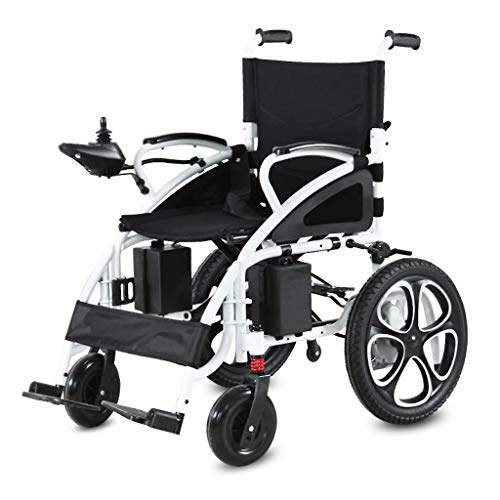 Rubicon All Terrain Heavy Duty Powerful Dual Motor Foldable Electric Wheelchair Motorized Power Wheelchairs Silla de Ruedas Electrica para Adultos. (up to 300 pounds - 70 lbs)