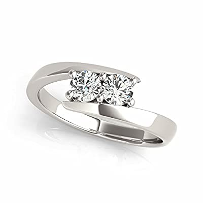 Two-Stone Forever Us Ring 1/8 ct tw Diamonds 14K White Gold