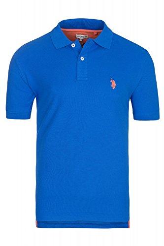 U.S. Polo Assn. S/S Shirt Herren Poloshirt Polohemd Blau 197 42607 51887 173, Größenauswahl:XL