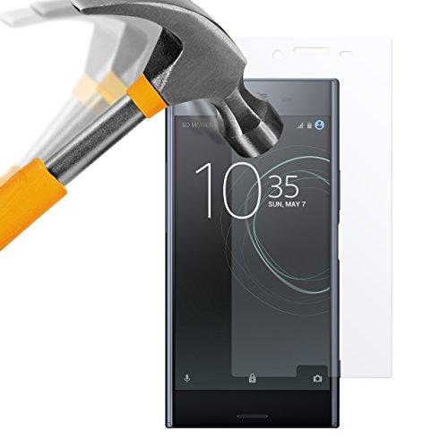 Moodie - Lámina protectora de pantalla de vidrio templado para Sony Xperia XZ Premium, 2 unidades, dureza 9H