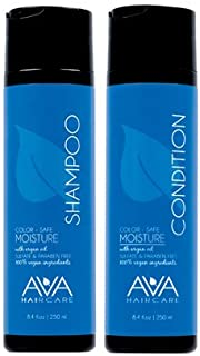 Ava Haircare - Moisture Shampoo And Conditioner - Vegan, Sulphate Free, Paraben Free, Cruelty Free (Set of 2, 8.4oz Each)