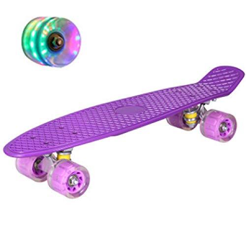 Hengyixing Skateboard Children's Board Pastel Longboard Fish Skate Board Flashing Wheels Banana Skateboard-2