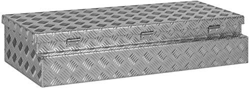 """Deichselbox, Premium, aus Alu Riffelblech 2,5/4 mm, Staubox, Truckbox, Werkzeugkasten, Gurtkiste, B 914 x H 190 x T 387 mm Inhalt: ca. 65 Ltr.""""Made in Germany"""" - 5"""