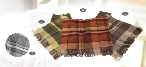 Forster Plaids Wohndecke Kent-K, 95x130 cm, Farbe: 007, ca. 290 gr, Lambswool
