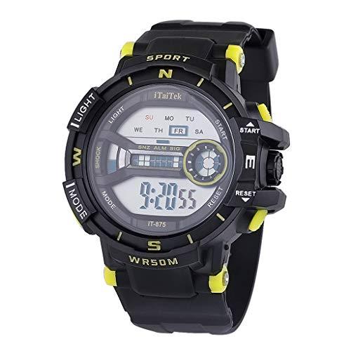TTLOVE Sportuhren FüR Kinder wasserdichte Digital-Armbanduhr Digitaluhr,Jungen MäDchen 30M Sport Multifunktions Armbanduhr Leuchtend Elektronische Uhr Mit Alarm