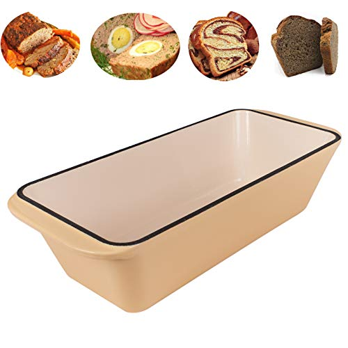 WEES-CK Enameled Cast Iron Loaf Pan (Creme)