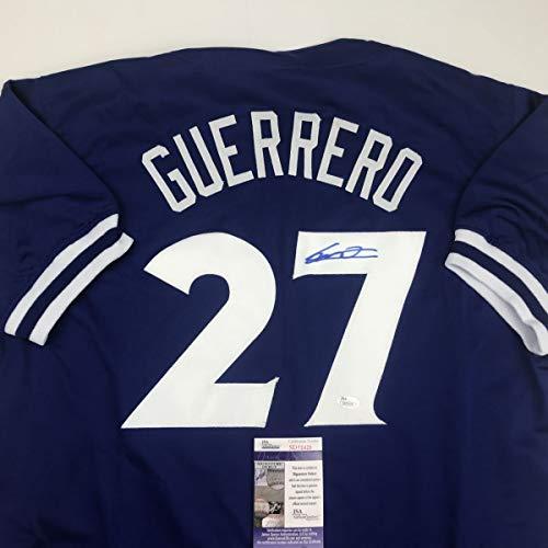 Autographed/Signed Vladimir Vlad Guerrero Jr. Toronto Blue Baseball Jersey...