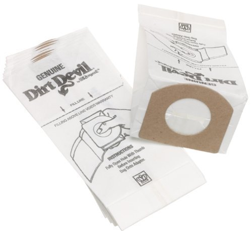Dirt Devil Type G Handheld Vacuum Bags (6-Pack), 3010347001