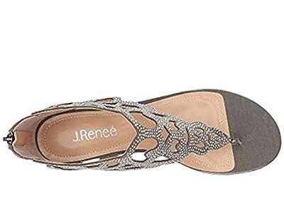 J.Renee Women's Minka Wedge Sandal (Pewter, 9.5 M US)