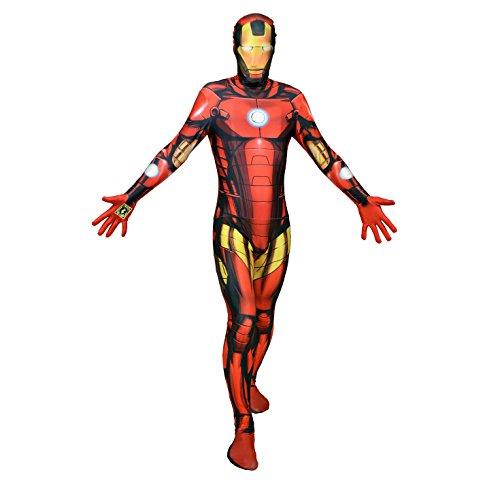 Morphsuits MLZIRX - Costume per travestimento da Iron Man, taglia: XXL