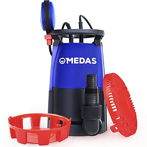 MEDAS Electric 3 in 1 Submersible Pump 3/4HP 500W 3302GPH Sump Pumps Clean/Dirty Water Utility w/Float Switch and Long 16.4ft Cable for Quickly Water Removal Drainage Pool Garden Tub Pond Flood Drain