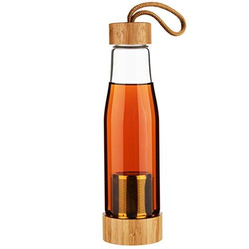 Life4u Tee Trinkflasche Glas Wasser Flasche Bpa-freien Teebereiter 480ML