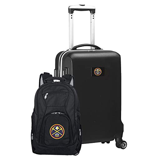 Amazing Deal NBA Denver Nuggets Deluxe 2-Piece Backpack & Carry-On Set, Black
