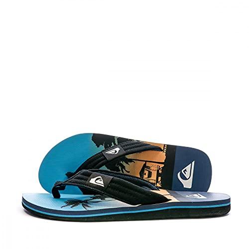 Quiksilver Molokai Layback, Scarpe da Spiaggia e Piscina Uomo, Multicolore Black Blue Blue Xkbb, 44 EU