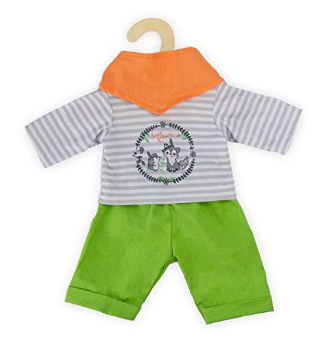 Heless 2915 - Outfit für Puppen bestehend aus Hose, Oberteil und Tuch, Foxy, 3 teilig, Größe 35 - 45 cm