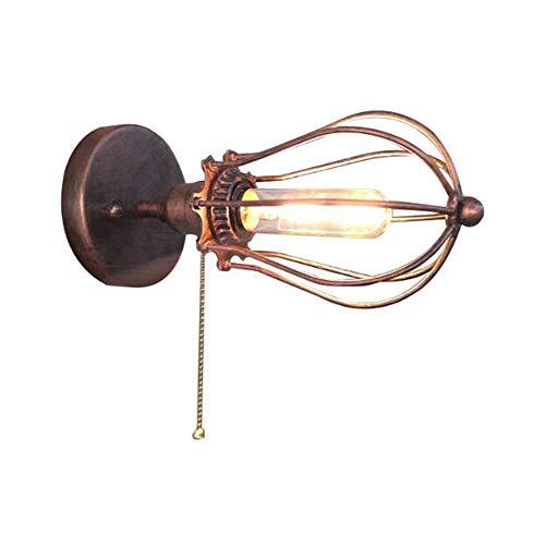 CHUANGJIE LED wandlamp wandlamp ijzer retro kleine ijzeren kooi wandlamp ijzeren frame lamp grapefruit wandlamp industriële windgang gang techniek lagers lamp goud
