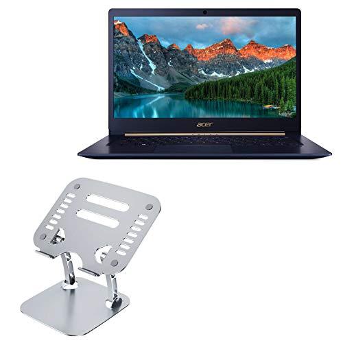 Suporte e suporte para laptop Acer Swift 5, BoxWave [Executive VersaView, suporte ergonômico ajustável metálico para laptop Acer Swift 5 - Prata metálica