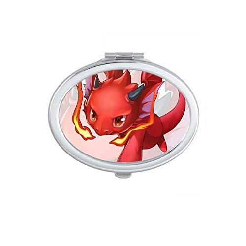 DIYthinker Fantasy Dungeons Jeu Cartoon Belle Ovale Maquillage Compact Miroir de Poche Portable Mignon Petit Miroirs Main Cadeau Multicolor