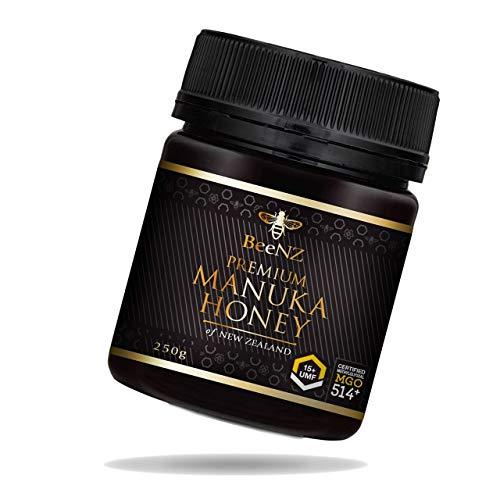 BeeNZ® - Premium Manuka Honig MGO 514+ (UMF15+)250g aus Neuseeland - 100% reiner Manuka-Honig ohne Zusatzstoffe - Zertifizierter Methylglyoxal Gehalt - Laborgeprüfte Qualität